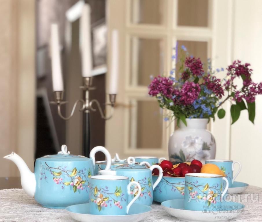 Сервиз чайный из прозрачного фарфора. Фабрика Кузнецова в Дулево 1872-89гг.!!