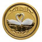 """10 долларов 2008 год. """"Любовь драгоценна"""" Острова Кука. Золото 999 проба. вес 7, 78 грамм"""
