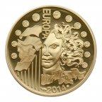50 евро 2014 года. Франция. Европа. Золото 920 пр.. 8.45 гр.. РЕДКАЯ! Тираж 1000 шт.