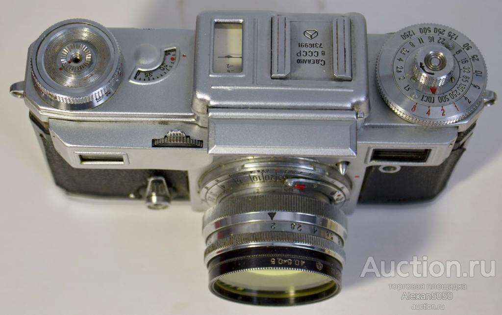 Фотоаппарат Киев-4М кофре с  экспонометром Юпитер-8М