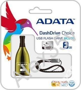 ФЛЕШКА  A-DATA  8GB UC500 Золотая бутылка USB 2.0