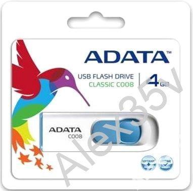 ФЛЕШКА  A-DATA  4GB C008 Classic USB 2.0