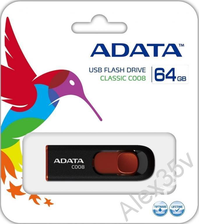 ФЛЕШКА  A-DATA  64GB C008 Classic USB 2.0