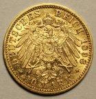 10 Марок 1898 год. Пруссия - Германия. Вильгельм II. Золото 900 - 3.95 грамм. Редкая!
