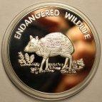 10 квач 2005 год. Вымирающие виды - Водяной оленёк. Малави. Медно-ник.!