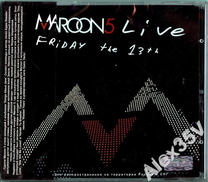 MAROON 5 - Live - Friday the 13 th /Obi/  2005 Sony / BMG CD
