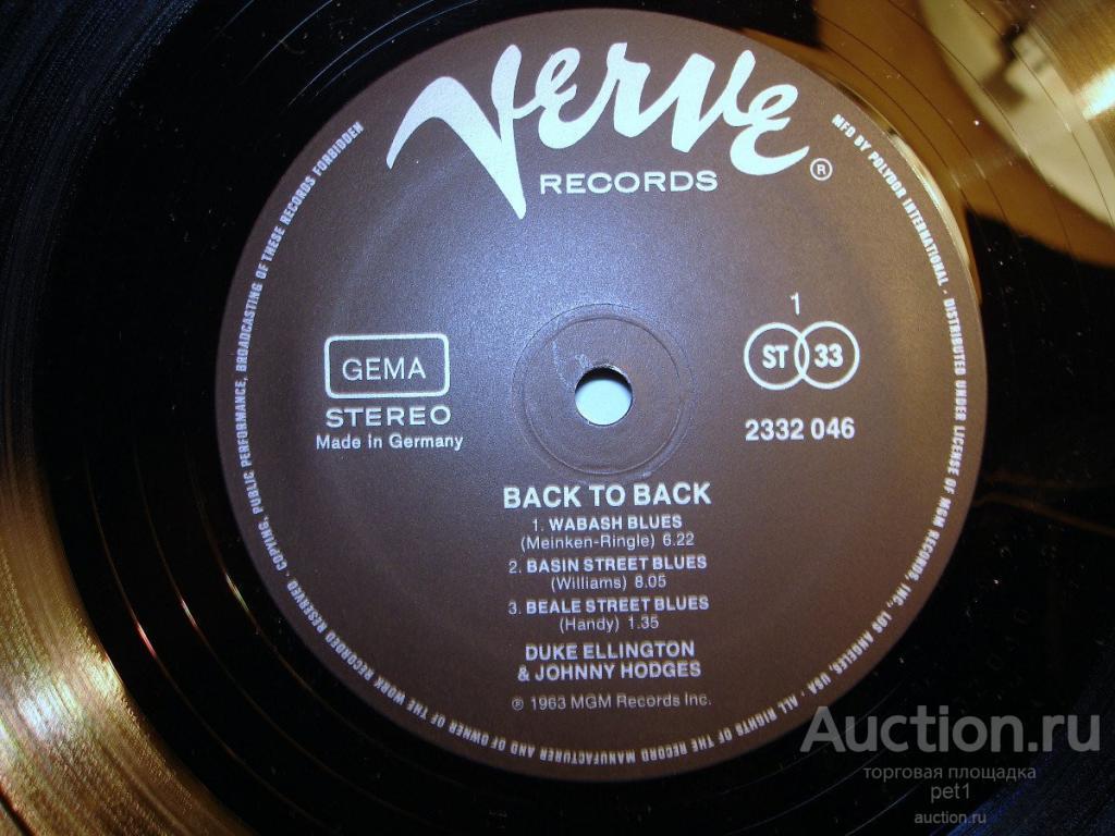 Пластинка Duke Ellington And Johnny Hodges – Back To Back (Duke Ellington And Johnny Hodges Play The