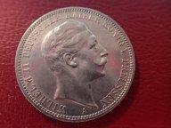 Германия Пруссия 3 марки 1909 (А) Вильгельм II  .ОРИГИНАЛ !!СЕРЕБРО . / Ю 851