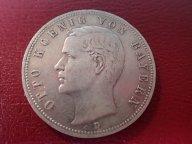 Германия Бавария 5 марок 1901 (D ) Король Отто  .ОРИГИНАЛ !!СЕРЕБРО . / Ю 866