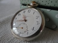 Швейцарские карманные часы Havila Серебро 1905 г