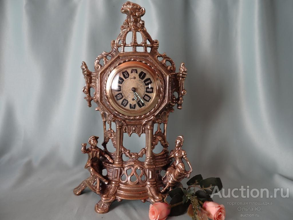 Старинные настольные интерьерные часы Бронза  Norstel Германия