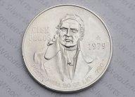 Мексика  100 песо, 1979, серебро Идальго. aUNC Распродажа! См. другие мои лоты