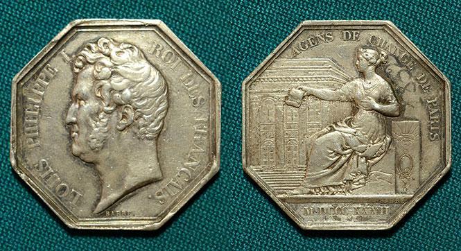 Медаль Парижская биржа 1832 - #53936