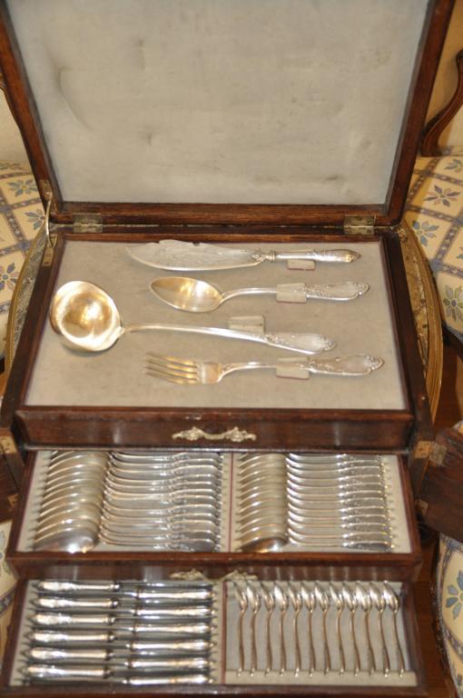 Шикарный набор столового серебра. 84 проба. Российская империя