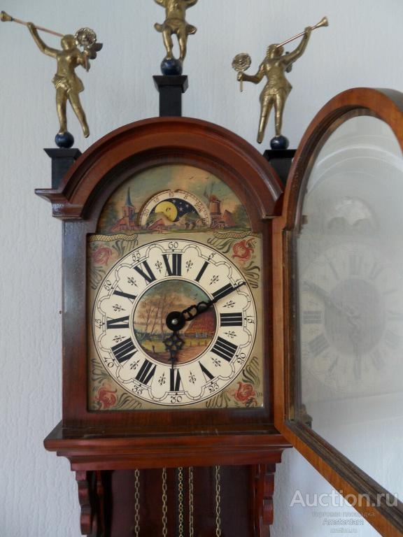 Старинные, настенные часы с боем, Голландия WUBA !!!