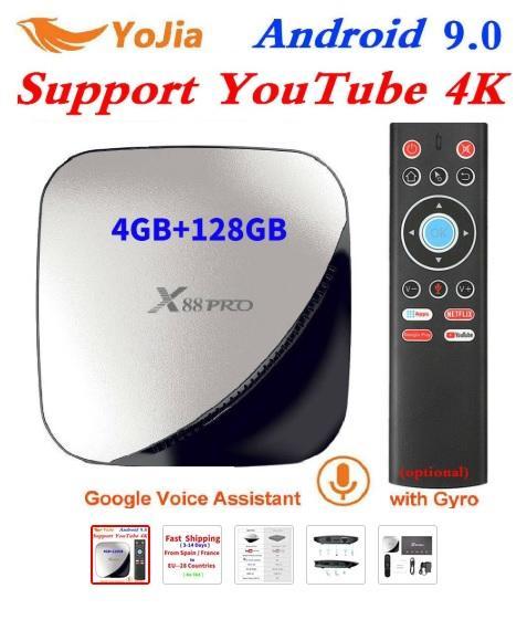 X88 pro Smart 4K Android 9,0 tv Box 4GB ram Max 128GB