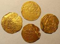 Золотые Динары 998 - 1042 годы. Масуд I. Исламский Восток. Гос-во Газневидов. Золото. 4 шт. Редкие!
