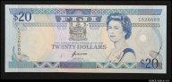 20 долларов 1992 Фиджи (pick 93) UNC R !