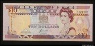10 долларов 1989 Фиджи (pick 92) UNC R !