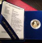 Золотая монета 10 долларов 1989 Американский Орел Шагающая Свобода Пруф Au917 8,48, С РУБЛЯ!!!