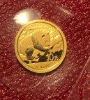 Золотая монета 10 юаней Панда 2016 ЗАПАЙКА !!! Au999 1,0 г, С РУБЛЯ!!!