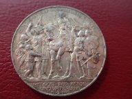 3 марки 1913 Пруссия 100 лет победы над Наполеоном   .ОРИГИНАЛ ! СЕРЕБРО ! / Я 383