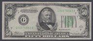 США, 50 долларов, 1934 г., 7-й банк, блок G-A, aUNC+