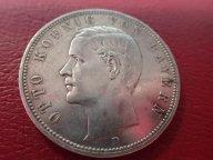 Германия Бавария 5 марок 1907 (D ) Король Отто   .ОРИГИНАЛ ! СЕРЕБРО ! / Я 392