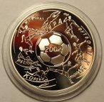 3 рубля 2002 год. Чемпионат мира по футболу 2002 год. Корея - Япония. Серебро!