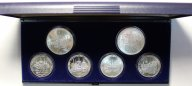 Набор монет 5 и 10 рублей 1977 год. XXII летние Олимпийские Игры, Москва 1980. 6 монет. Серебро!