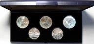 Набор монет 5 и 10 рублей 1978 год. XXII летние Олимпийские Игры, Москва 1980. 5 монет. Серебро!