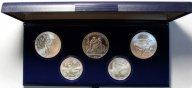 Набор монет 5 и 10 рублей 1979 год. XXII летние Олимпийские Игры, Москва 1980. 5 монет. Серебро!