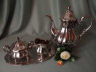 Серебро Кофейный набор из 4-х предметов. Клеймо. Швеция