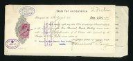 Вексель цена 100 рублей с Акцептом 5000 фунтов Лондон 1917г