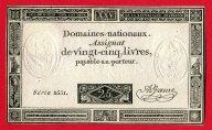 25 Ливров 1793 год. Ассигнаты - деньги периода Великой французской революции. Редкость!