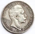 5 марок 1903 год. Пруссия. Серебро. 28 грамм