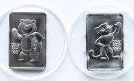 2 монеты: 3 рубля 2011 и 2012 года. Мишка и Леопард. Серебро 999. 31.1 грамм.
