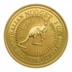 100 долларов 1995 год. Австралийский кенгуру. Золото 999! 1 oz. Австралия