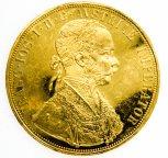 4 Дуката 1915 год . Рестрайк.  Золото: 986 проба, вес: 14 грамм
