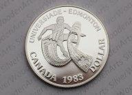 Канада 1 доллар, 1983 XII Универсиада в Эдмонтоне. Пруф! Состояние! Смотрите другие мои лоты