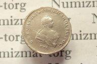 полтина 1743 года, буквы ММД, Елизавета Петровна/ Биткин R