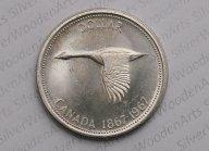 Канада 1 доллар, 1967 100 лет Конфедерации Канада. Смотрите другие мои лоты
