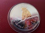 Канада 5 долларов 2012 год,  с позолотой.  Дост до 1,5 месяца ОРИГИНАЛ СЕРЕБРО/ L 147