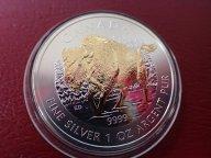 Канада 5 долларов 2013 год,  с позолотой.  Дост до 1,5 месяца ОРИГИНАЛ СЕРЕБРО/ L 145