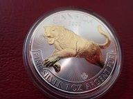 Канада 5 долларов 2016 год,  с позолотой.  Дост до 1,5 месяца ОРИГИНАЛ СЕРЕБРО/ L 148