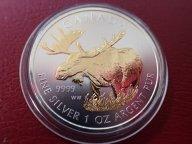 Канада 5 долларов 2012 год,  с позолотой.  Дост до 1,5 месяца ОРИГИНАЛ СЕРЕБРО/ L 146