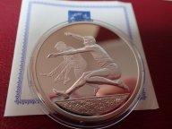 Греция 10 евро 2004 ПРУФ . Олимпиада-2004 в Афинах .ОРИГИНАЛ !!СЕРЕБРО . / Я 504