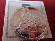 Греция 10 евро 2004 ПРУФ . Олимпиада-2004 в Афинах .ОРИГИНАЛ !!СЕРЕБРО . / Я 506