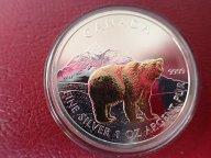 Канада 5 долларов 2011 год,  с позолотой.  Дост до 1,5 месяца ОРИГИНАЛ СЕРЕБРО/ L 149