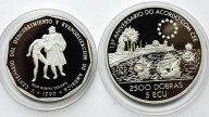 2 монеты: 1 Песо 1990 год. Доминикана. 2500 добра 1993 год. Парусник. Сан-Томе и Принсипи. Серебро!